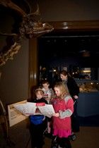 A family enjoys The Manx Museum Discovery Trail.