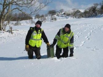 Civil Defence volunteers in snow March 2013