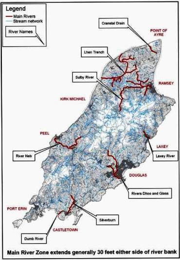 Image Map of main rivers  click for full size  Department of