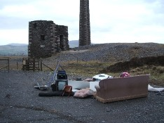 Fly tipping at Cross Vein Mines