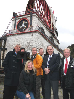 ITV Countrywise film at Laxey Wheel