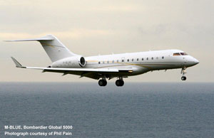 M-BLUE is a Global 5000 which registered in May 2012
