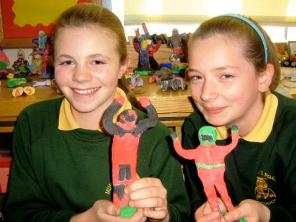 Murray's Road School pupils create TT riders from clay