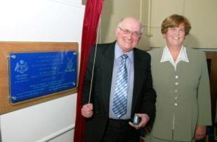 Eddie Lowey MLC and Headteacher Judith Lund
