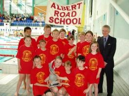 Albert Road School with retired adviser Stuart Loaring