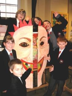 Arts students with their entry