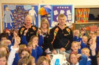Ian Hutchinson visits Onchan School