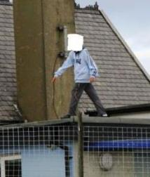 Boy on roof