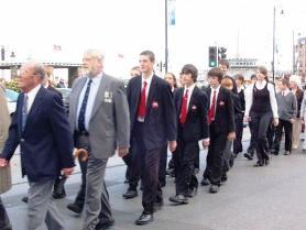 St Ninian's students parade along Loch Promenade