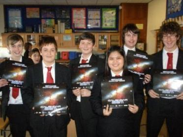 St Ninian's science students