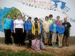 St Ninian's High School students in Uganda