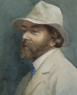 Watercolour of Archibald Knox by E.C. Quayle (March 1933)