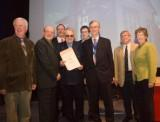 Manx Transport Museum Group receive their award from the AIA