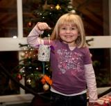 Child with Homemade Christmas Lantern