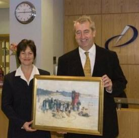 Nicola Pemberton with Paul Morris, Senior Partner of Dickins