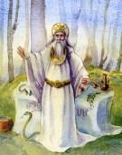 A watercolour of a Druid by Manx Artist, John Caley.