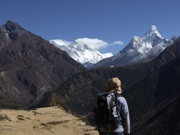 Looking towards Everest.