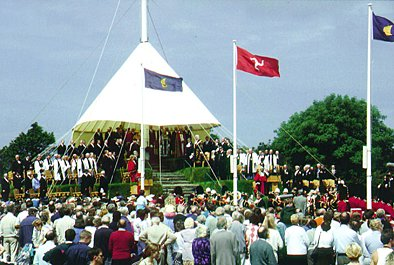 The annual Tynwald Ceremony on Tynwald Hill, St. Johns