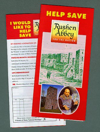 The 'Help Save Rushen Abbey' public appeal Poster