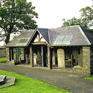 The Cross-shelter at Kirk Maughold.
