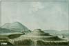 Watercolour of Tynwald Hill by Thomas Pennant
