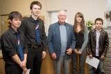 Pupils from St Ninians High School and Hector Duff