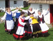 Traditional Manx dancing at Cregneash.