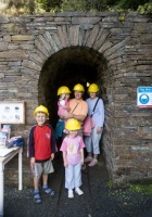 A family visit to the Laxey Wheel.