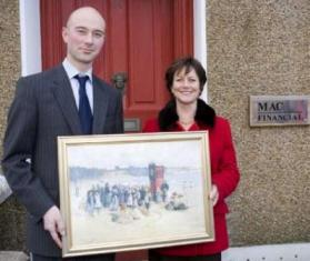 Nicola Pemberton with John McGowan, Managing Director of MAC