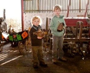 Children with turnip lanterns at Cregneash