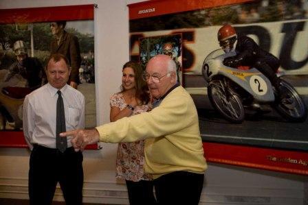 Murray Walker at the Honda exhibition