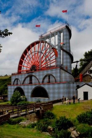 Laxey Wheel painted Tartan