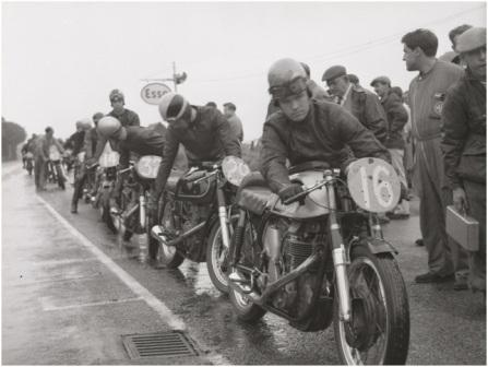 Start line of the Manx Grand Prix, 1960