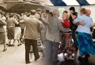 Now and then: Dancers at Rushen Abbey.