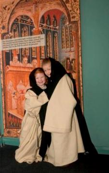 Two young Visitors to Rushen Abbey get into character!