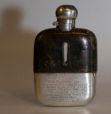 Silver Flask belonging to Rem Fowler