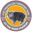 'I've travelled through time at the Manx Museum!' sticker