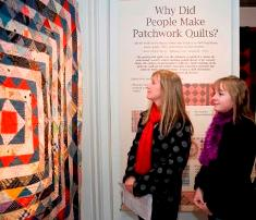 Guests at the private viewing of Manx Quilts and Patchwork