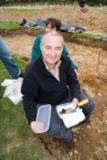 Tony Robinson at the Mount Murray excavation