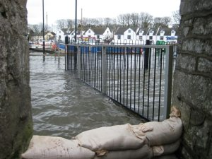 Sandbags in use - Castletown March 2008