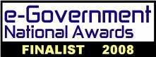 e-Government Awards Finalist 2008 logo