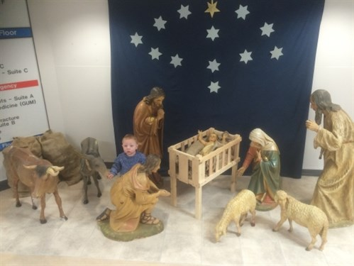 Nativity scene draws visitors to hospital
