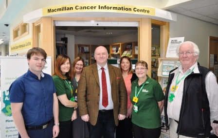 Minister Quayle with Macmillan Cancer Information staff and volunteers