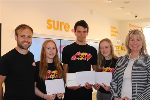 Sporty youngsters praised for volunteer work