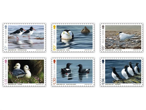 Jeremy Paul depicts Manx BirdLife in latest stamp issue