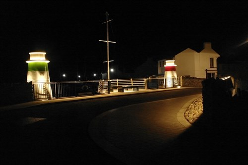 Laxey Bridge At Night