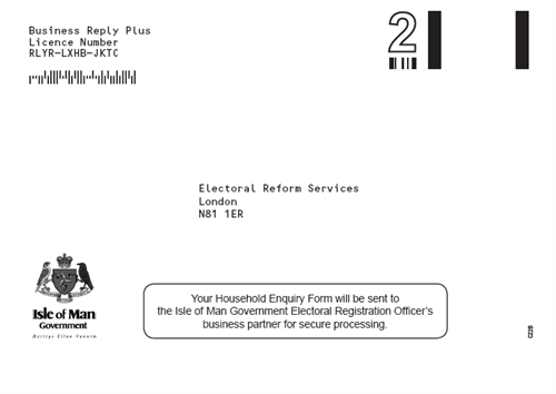 Household Enquiry Form envelope sample