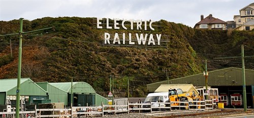 Electric Railway sign at Derby Castle