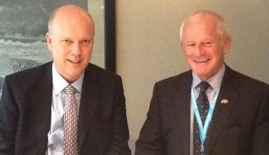 Chief Minister Allan Bell meets Chris Grayling MP