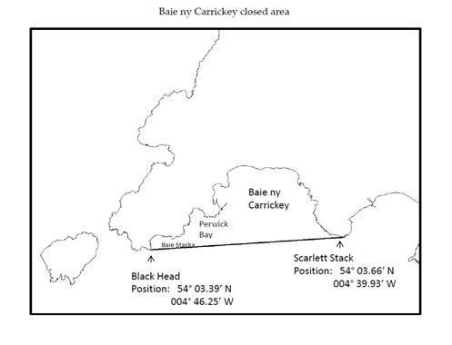 Baie ny Carrickey closed area map